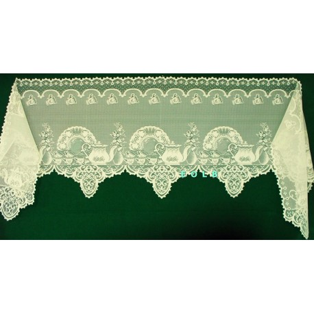 Mantel Scarf Tea Time 19x93 Ivory Heritage Lace
