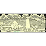 Table Runner Lighthouse 14x36 Ivory Heritage Lace