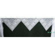 Mantel Scarf Chantilly 20x96 White Heritage Lace