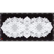 Table Runner Cleremont 14x36 White Heritage Lace