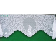 Mantel Scarf O Holy Night 20x90 White Heritage Lace