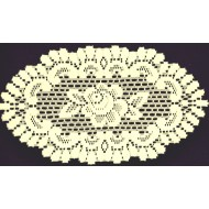Doilies Rose 8x14 Ecru Set Of (2) Heritage Lace
