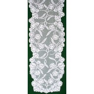 Table Runner Dutch Garden 14x54 White Oxford House