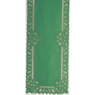 Table Runner Battenburg 14x50 Green Oxford House