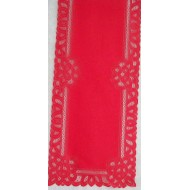 Table Runner Battenburg 14x50 Red Oxford House