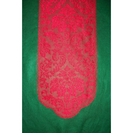 Table Runner Heritage Damask Red 14x49 Heritage Lace