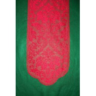 Table Runner Heritage Damask Red Lace Runner 14x64