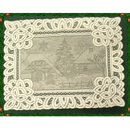 Placemat Winter Scene 14x19 Ivory Set Of (4) Oxford House