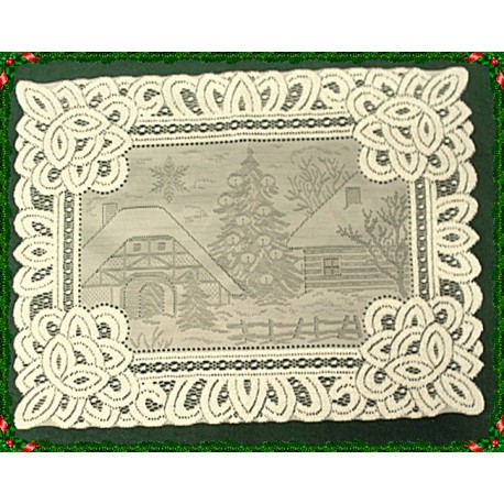 Placemats Winter Scene 14x19 Ivory Set Of (4) Oxford House