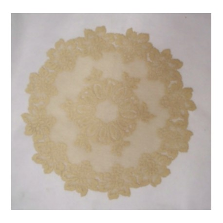 Savoy Doily 18 Round Antique Gold Set Of (2) Heritage Lace