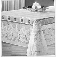 Tablecloth Winter's Eve 60x60 Square White Oxford House