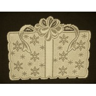 Placemats Gift Of Snow 14x18 Cream/Gold Lame Set Of (4) Oxford House