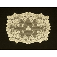 Doilies Christmas Horns 20x26 Ivory Set Of (2) Oxford House
