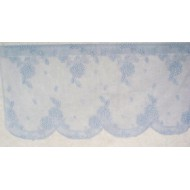 Curtain Tier Hydrangea Sky Blue 62x24 Heritage Lace