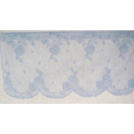 Lace Curtains Hydrangea Lace Curtain Tier Sky Blue 62x24