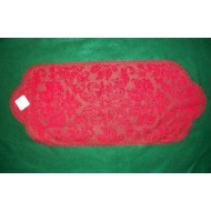 Heritage Damask 14x34 Red Table Runner Heritage Lace