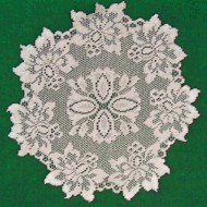 Doilies Savoy Silver Lame 13 Round Set Of (2) Heritage Lace