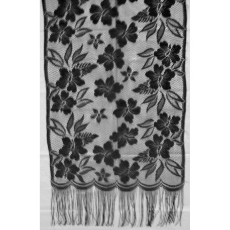 Table Runners WildFlower Black Table Runner 15x58