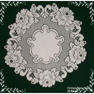 Doily Vintage Rose Lace Doily White 15 Round Heritage Lace