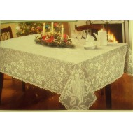 Heritage Lace Holly Glow 60x108 Ivory Tablecloth