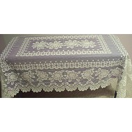 Tablecloths Rose Rectangle 54x70 Off White Heritage Lace