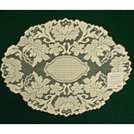 Doily Windsor 12 x 16 Ecru Set Of (2)Heritage Lace