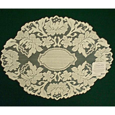Doily Windsor 12 x 16 Ecru Set Of (2) Heritage Lace