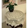 Victorian Rose 43 Inch Round Ecru Table Topper