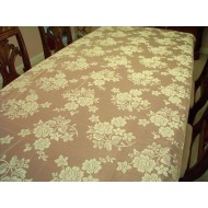 Tablecloth Rose Bouquet 60x84 Ivory Oxford House