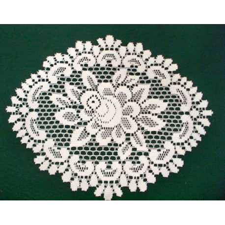 Doily Rose Off White 12 x 15 Set Of (2) Heritage Lace