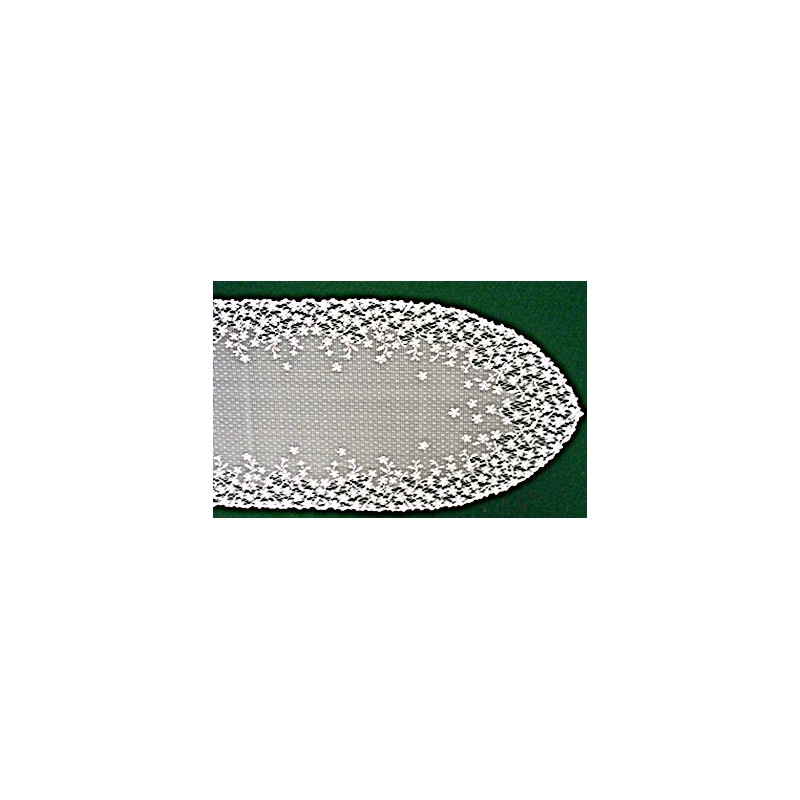 Table Runner Blossom 12x54 White Heritage Lace - Elegance of Lace Boutique