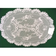 Placemats Floret 14x20 White Set Of (4) Heritage Lace