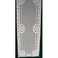 Battenburg Paisley 14x70 White Table Runner Oxford House