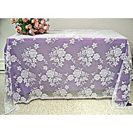 Tablecloths Rose Bouquet 52x70 White Oxford House