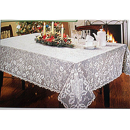 Tablecloth Holly Glow 60x126 White Oxford House