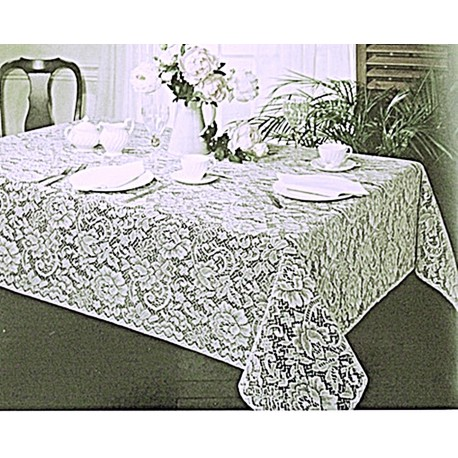 Tablecloth Julia 60x84 White Table Linens Oxford House