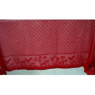 Holly Vine Rectangle 70x90 Red Heritage Lace
