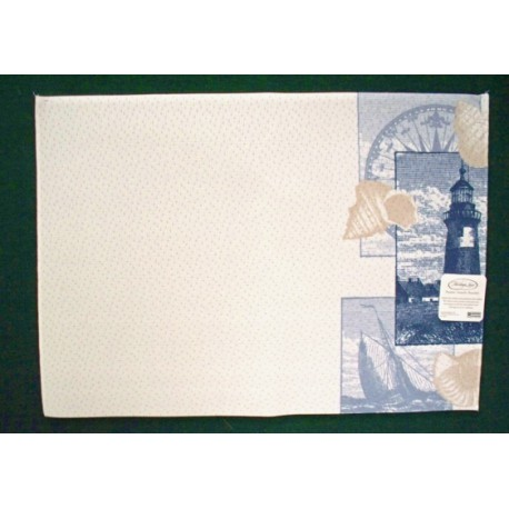 Placemat Lighthouse Collage 13x19 Cafe Color Set Of (4) Heritage Lace
