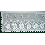 Curtain Tier Quilt Patch 60x24 White Oxford House