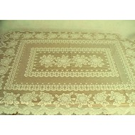 Tablecloth Rose 53x70 Rectangle Ivory Heritage Lace