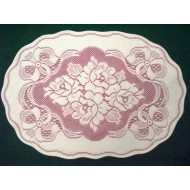 Placemats Roses n Bows Off White Mauve 14X20 Set Of (4) Oxford House