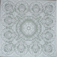 Table Topper Grantham 42x42 White Heritage Lace