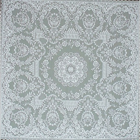 Grantham 42x42 White Table Topper Heritage Lace