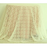 Tablecloth Nova 90 Inch Round Ivory Oxford House