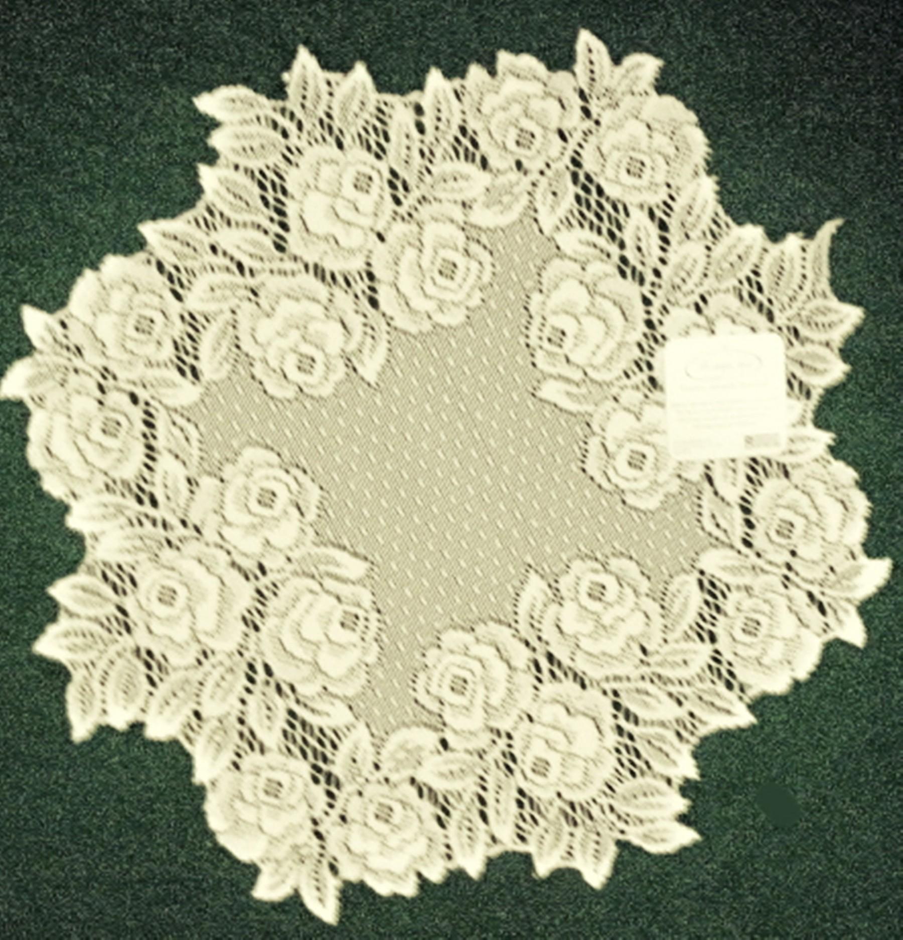 Doilies Tea Rose 15 Round Ecru Set Of 2 Heritage Lace